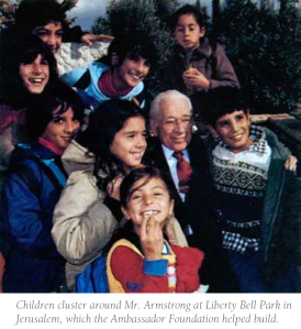 HWA in Liberty Bell Park in Jerusalem with children_1