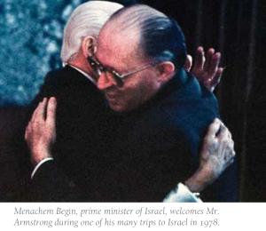 HWA with Israel PM Menachem Begin 1978