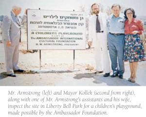 HWA with Mayor Teddy Kollek in Jerusalem