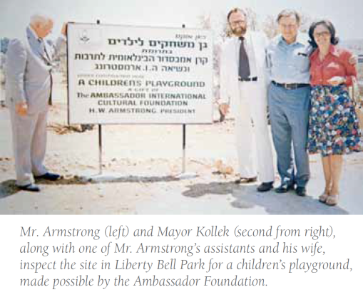 HWA with Mayor Teddy Kollek in Jerusalem