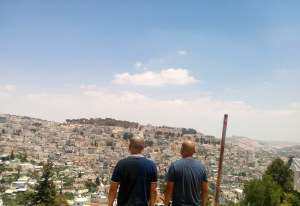 Make yourselves BALD - facing the Valley of Jehoshaphat in Jerusalem