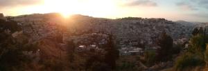 Sunrise at Mount of Olives 13 June 2015