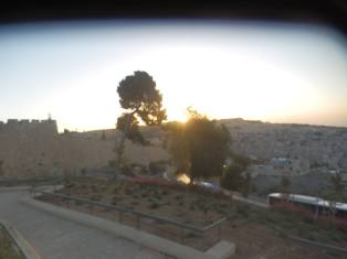 Sun rising from Mount of Olives