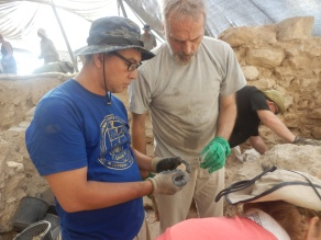 Lots of pottery were being found