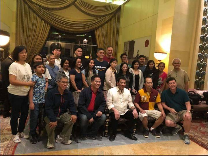With President Duterte in King David's Hotel in Jerusalem