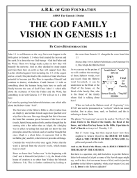 A0003 The God Family Vision in Genesis 1-1